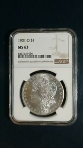 1901 O MORGAN SILVER DOLLAR NGC MS63 UNCIRCULATED $1 COIN BUY IT NOW