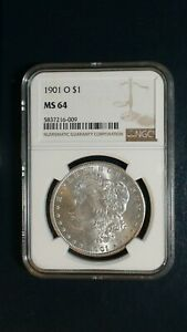 1901 O MORGAN SILVER DOLLAR NGC MS64 NEAR GEM UNCIRCULATED $1 COIN BUY IT NOW