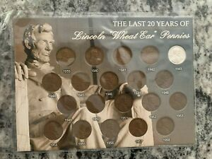 LINCOLN WHEAT EAR PENNY COLLECTION 1939 1958 COA UNOPENED PACKAGE