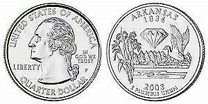2003 P ARKANSAS STATE QUARTER BU BRILLIANT UNCIRCULATED COIN