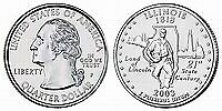 2003 P ILLINOIS STATE QUARTER BU BRILLIANT UNCIRCULATED COIN