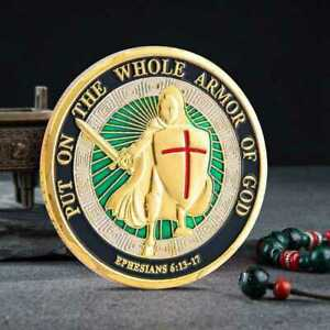 COMMEMORATIVE COIN CHALLENGE PUT ON THE WHOLE ARMOR OF GOD COLLECTION GIFT COINS