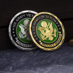 COLLETION ARMY COMMEMORATIVE COIN AMERICAN MILITARY CHALLENGE GOLD COLLECTIBLE