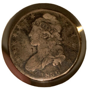 1836 CAPPED BUST HALF DOLLAR EARLY DATE SILVER 50C