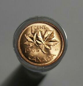 1963 BU Roll Pennies Canada One Roll From The Lot.
