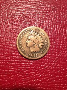 1875 INDIAN HEAD CENT PENNY NICE ORIGINAL COIN