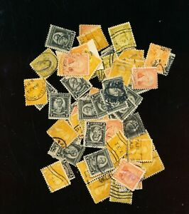 WASINGTONS 1932    LARGE LOT OF MIXED  6 CENT THRU 9 CENTS   54 STAMPS