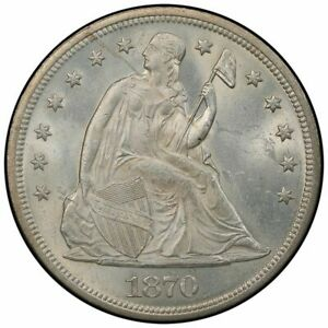 1870 $1 LIBERTY SEATED DOLLAR PCGS MS64