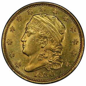 1830 $2.50 CAPPED BUST QUARTER EAGLE PCGS MS61