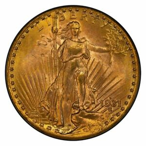 Click now to see the BUY IT NOW Price! 1931 D $20 SAINT GAUDENS PCGS MS64  CAC   OGH
