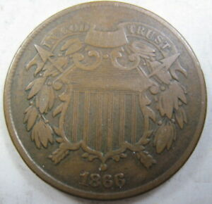 1866 TWO CENT COIN  79D