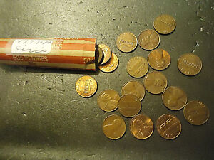 1977 P ROLL OF LINCOLN CIRCS CENTS  > C/S & H AVAILABLE <