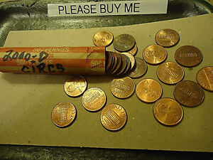 2000 D ROLL OF LINCOLN CENTS        > C/S & H AVAILABLE <