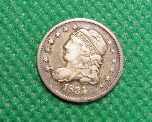 1834 CAPPED BUST HALF DIME   FINE   GREAT LIBERTY    RM 1875