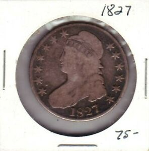 1827 CAPPED BUST HALF DOLLAR  36624
