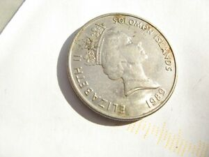 USED 1989 SOLOMON ISLANDS 20 CENTS COIN