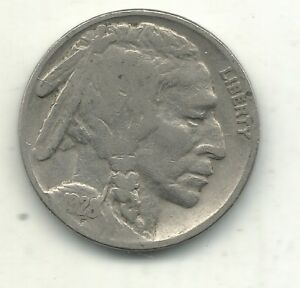 VINTAGE FINE CONDITION 1928 P BUFFALO NICKEL COIN OLD US COIN MAY078