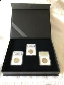 Click now to see the BUY IT NOW Price! 1858 1860 3 PIECE 50 CENT S. S. REPUBLIC SHIPWRECK NGC SET WITH BOOK