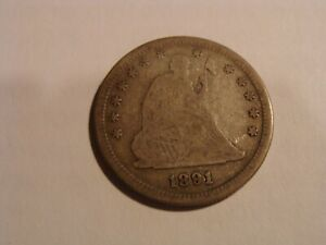 1891 S SEATED LIBERTY QUARTER   NICE EXAMPLE