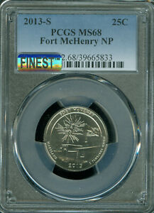 Click now to see the BUY IT NOW Price! 2013 S FORT MCHENRY QUARTER PCGS MS68 PQ MAC FINEST & SPOTLESS