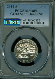 Click now to see the BUY IT NOW Price! 2014 S GREAT SAND DUNES QUARTER PCGS MAC MS 68 PL MAC FINEST & SPOTLESS