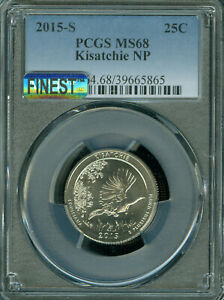 Click now to see the BUY IT NOW Price! 2015 S KISATCHIE QUARTER PCGS MS68 PQ MAC FINEST & MAC SPOTLESS