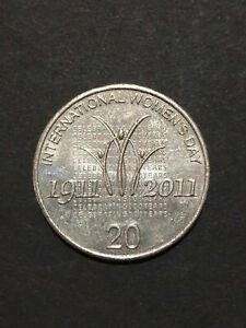 2011 AUSTRALIAN 20 CENT COIN WOMEN'S DAY   CIRCULATED
