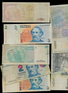 ARGENTINA LOT OF  7 NOTES   SEE PHOTO   AR2
