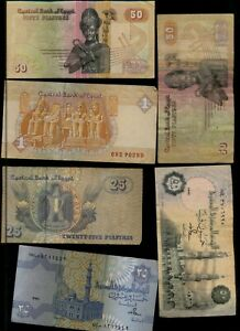 EGYPT   LOT OF 6 NICE NOTES AA