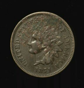 U.S.1871 INDIAN HEAD PENNY / CENT   1C    HIGH GRADE  DETAILS