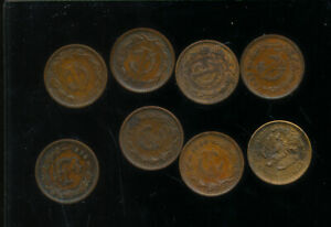 MEXICO    ONE CENTAVOS   1930   1949   NICE GRADES   8 DIFFERENT