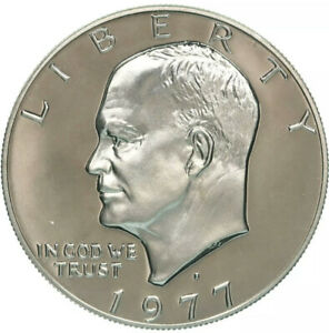 1977 S EISENHOWER ONE DOLLAR COIN GEM CAMEO PROOF  CLAD  180
