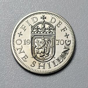 GB SHILLING   PROOF   LAST YEAR MINTED 1970 S     GEM PROOF