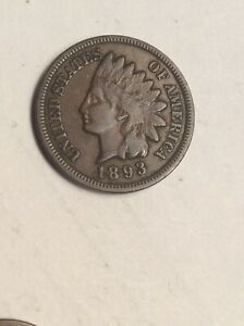 1893 INDIAN HEAD CENT  WITH LIBERTY NICE COIN