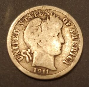 USA 1911 BARBER DIME   SILVER   BETTER DATE