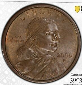 Click now to see the BUY IT NOW Price! SACAGAWEA DOLLAR 2000 P    MINT ERROR  EXPERIMENTAL WASH  PCGS GOLD SHIELD