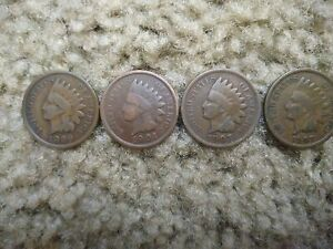 1899 1901 1905 1907 INDIAN HEAD PENNIES