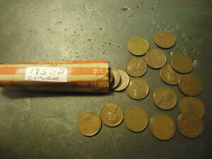 1957 D ROLL OF LINCOLN WHEAT CIRCS CENTS  > C/S & H AVAILABLE <