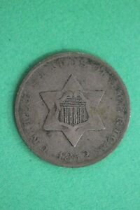 1852 TRIME 3 CENT SILVER COIN EXACT COIN SHOWN COMBINED SHIPPING OCE 23