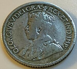 1921??? CANADA 10 CENTS  80  SILVER    KING GEORGE V   178