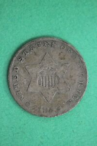 1852 TRIME 3 CENT SILVER COIN EXACT COIN SHOWN COMBINED SHIPPING OCE 24