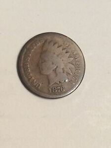 1876 INDIAN HEAD CENT PENNY NICE ORIGINAL COIN
