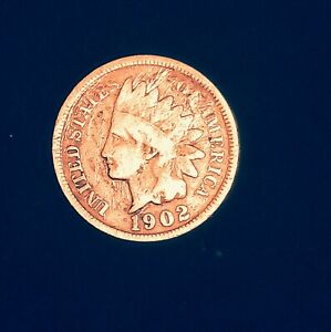 1902 INDIAN CENT STRUCK IN COLOR MINT ERROR