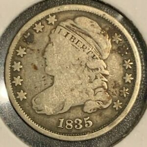 1835 SILVER DIME  CAPPED BUST LOT  130