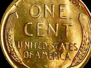 1955 S PENNY WITH DIE CHIPS ON WHEAT WREATH