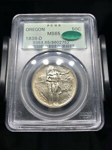 1939 D OREGON TRAIL COMMEMORATIVE HALF DOLLAR PCGS MS65 CAC OGH   PRIME EXAMPLE