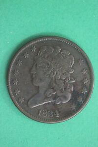 1834 CLASSIC HEAD HALF CENT EXACT COIN SHOWN COMBINED FLAT RATE SHIPPING OCE 05