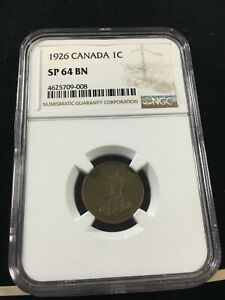 Click now to see the BUY IT NOW Price! 1926  NGC GRADED CANADIAN SMALL ONE CENT   SP 64