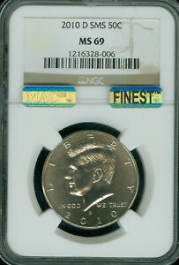 Click now to see the BUY IT NOW Price! 2010 D KENNEDY HALF DOLLAR NGC MS 69 SMS PQ MAC FINEST MAC SPOTLESS