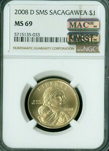Click now to see the BUY IT NOW Price! 2008 D SACAGAWEA LABEL DOLLAR NGC MS69 SMS PQ MAC FINEST MAC SPOTLESS
